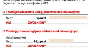 Rozliczenie szkół językowych